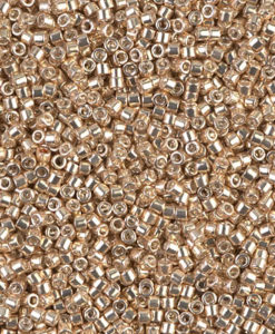 Miyuki Delica Cylinder Bead, DB0433, Galvanized Champagne Gold, 11/0 7 grams