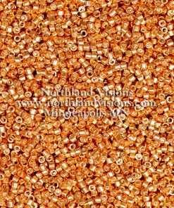 Miyuki Delica Cylinder Bead, DB434, Galvanized Rose Gold (Muscat), 11/0 7 grams