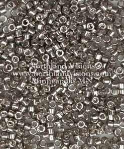 Miyuki Delica Cylinder Bead, DB0436, Galvanized Pewter, 11/0 7 grams