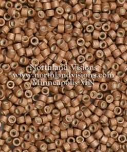 Miyuki Delica Cylinder Bead, DB1165, Galvanized Dark Rose Gold Matte, 11/0 7 grams