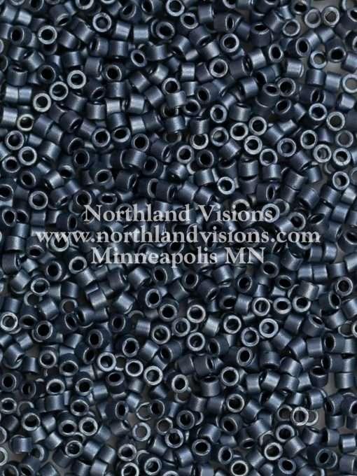 Miyuki Delica Cylinder/Seed Bead, DB0301/DB301, Opaque Blue Grey Matte, 11/0 7 grams