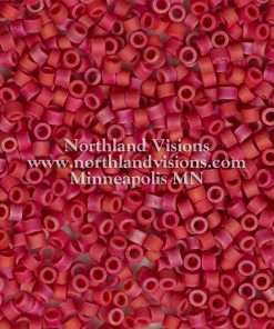 Miyuki Delica Cylinder Bead, DB0362, Opaque Red Matte AB, 11/0 7 grams