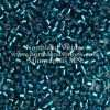 Miyuki Delica Cylinder Bead, DB0608, Transparent Blue Zircon Silver Lined, 11/0 7 grams