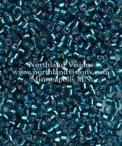 Miyuki Delica Cylinder Bead, DB0608, Transparent Blue Zircon Silver Lined, 11/0 7 grams
