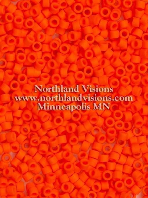 Miyuki Delica Cylinder Bead, DB0752, Opaque Orange Matte, 11/0 7 grams