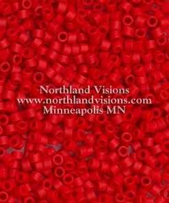 Miyuki Delica Cylinder Bead, DB0753, Opaque Dark Red Matte, 11/0 7 grams