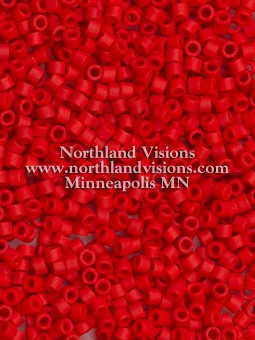 Miyuki Delica Cylinder Bead, DB753/DB0753, Opaque Dark Red Matte, 11/0