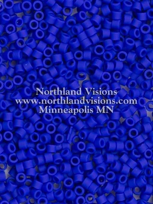 Miyuki Delica Cylinder Bead, DB0756, Opaque Royal Blue Matte, 11/0 7 grams