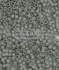 Miyuki Delica Cylinder Bead, DB0761, Opaque Grey Matte, 11/0 7 grams
