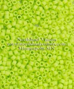 Miyuki Delica Cylinder/Seed Bead, DB0763/DB763, Opaque Chartreuse Matte, 11/0 7 grams