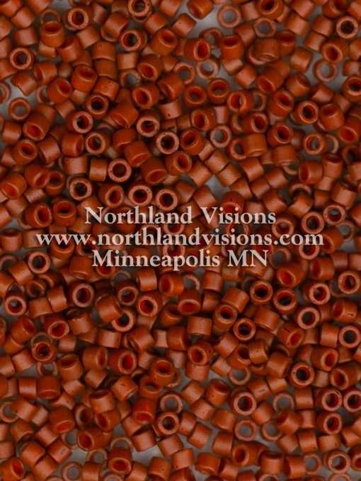 Miyuki Delica Cylinder/Seed Bead, DB0794/DB794, Opaque Sienna Semi Frosted, 11/0 7 grams