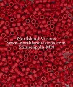 Miyuki Delica Cylinder Bead, DB0796, Opaque Maroon Matte, 11/0 7 grams