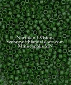Miyuki Delica Cylinder/Seed Bead, DB0797/DB797, Opaque Olive Green Semi Frosted, 11/0 7 grams
