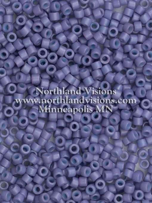Miyuki Delica Cylinder Bead, DB0799, Opaque Lavender Matte, 11/0 7 grams