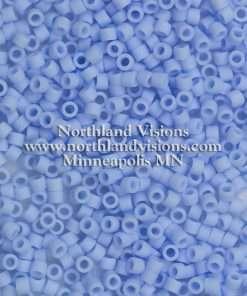 Miyuki Delica Cylinder Bead, DB1587, Opaque Agate Blue Matte, 11/0 7 grams