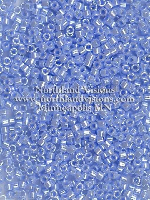 Miyuki Delica Cylinder Bead, DB1568, Opaque Agate Blue Luster, 11/0 7 grams