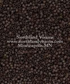 Miyuki Delica Cylinder Bead, DB1910, Opaque Espresso Matte, 11/0 7 grams