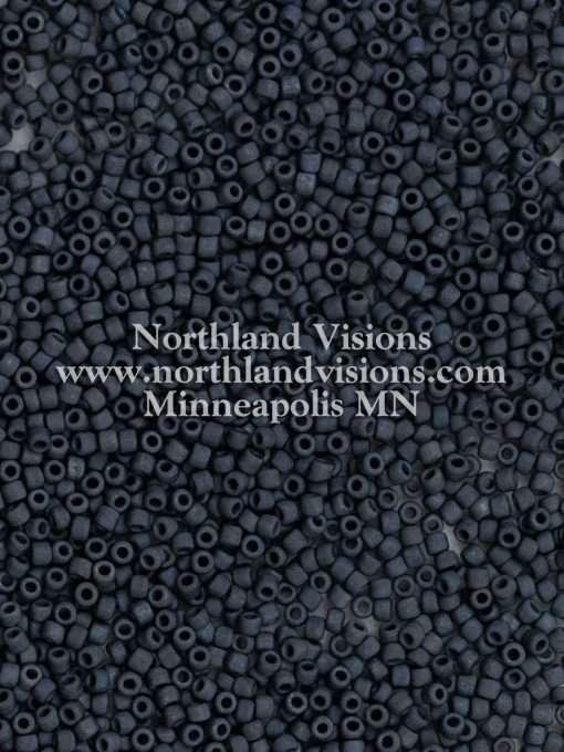 Japanese Seed Bead, Matsuno 11-F451, Opaque Charcoal Matte, 11/0 30 grams