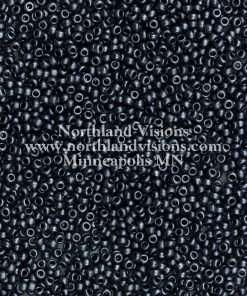 Japanese Seed Bead, Miyuki 11-F451B, Opaque Gunmetal Matte, 11/0 30 grams