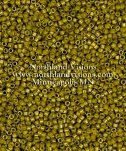 Miyuki Delica Cylinder Bead, DB2141, Duracoat Opaque Spanish Olive, 11/0 7 grams