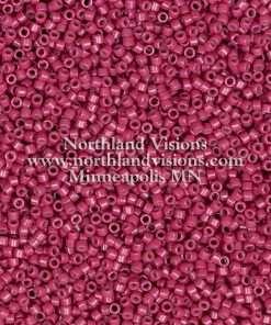Miyuki Delica Cylinder Bead, DB2353, Duracoat Opaque Raspberry, 11/0 7 grams