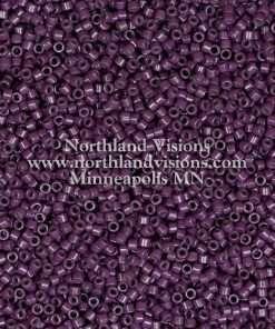 Miyuki Delica Cylinder Bead, DB2360, Duracoat Opaque Dark Purple, 11/0 7 grams