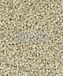 Miyuki Delica Cylinder Bead, DB2363, Duracoat Opaque Antique White, 11/0 7 grams
