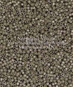 Miyuki Delica Cylinder Bead, DB2365, Duracoat Opaque Ash Grey, 11/0 7 grams