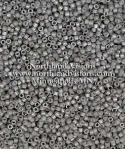 Miyuki Delica Cylinder Bead, DB2367, Duracoat Opaque Slate Grey, 11/0 7 grams
