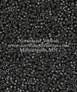 Miyuki Delica Cylinder Bead, DB2368, Duracoat Opaque Charcoal Grey, 11/0 7 grams
