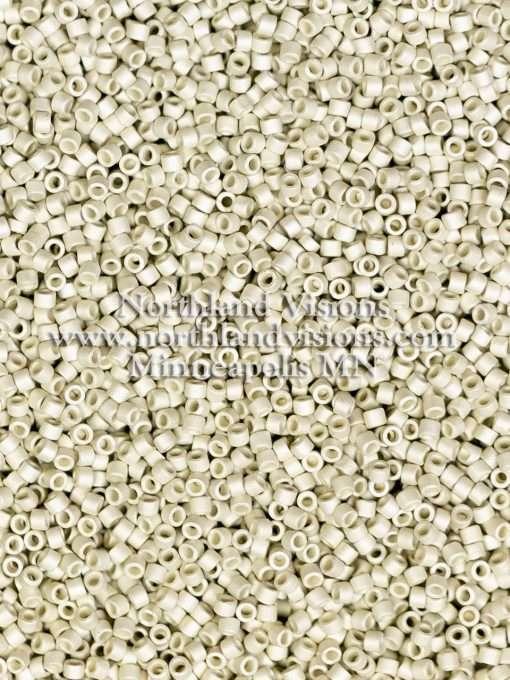 Miyuki Delica Cylinder Bead, DB0335, Galvanized Silver Plated Matte, 11/0 7 grams