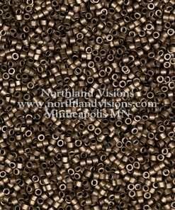 Miyuki Delica Cylinder Bead, DB0322, Opaque Bronze Metallic Matte, 11/0 7 grams