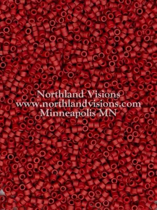 Miyuki Delica Cylinder/Seed Bead, DB0378/DB378, Opaque Dark Maroon Glazed Luster Matte, 11/0 7 grams