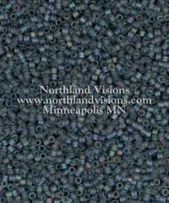 Miyuki Delica Cylinder Bead, DB0863, Opaque Grey Matte AB, 11/0 7 grams