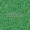 Miyuki Delica Cylinder Bead, DB0877, Opaque Green Matte AB, 11/0 7 grams