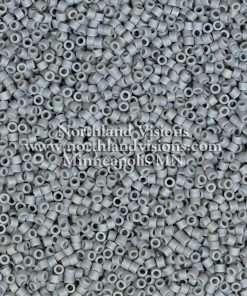 Miyuki Delica Cylinder Bead, DB0882, Opaque Light Grey Matte AB, 11/0 7 grams