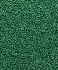 Czech Seed Bead, Opaque Medium Green, Loose, 10/0 30 grams