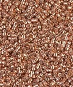 Miyuki Delica Cylinder/Seed Bead, DB0434/DB434, Galvanized Rose Gold (Muscat), 11/0 7 grams