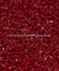 Japanese Seed Bead, 407A, Opaque Mahogany Red, 15/0 Hex, 14 grams