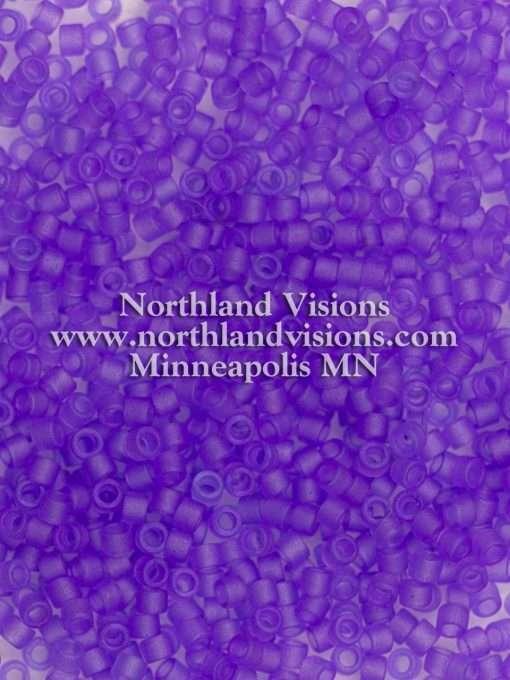 Miyuki Delica Cylinder Bead, DB0783, Transparent Purple Matte, 11/0 7 grams