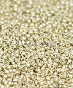 Japanese Seed Bead, Miyuki 15-D4201, Duracoat Galvanized Silver, 15/0 14 grams