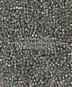 Japanese Seed Bead, P487, PermaFinish Dark Grey Metallic, 11/0 30 grams