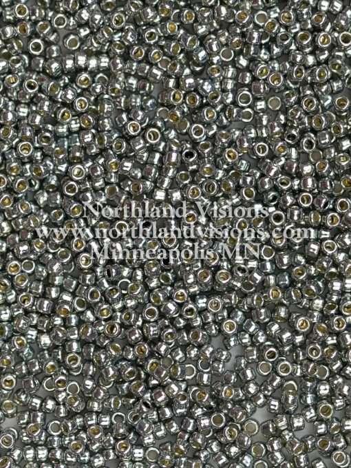Japanese Seed Bead, TR-11-PF595, TOHO PermaFinish Opaque Galvanized Cool Gray, 11/0 30 grams