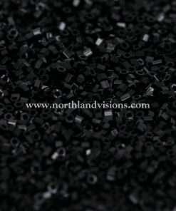 Japanese Seed Bead, 401, Opaque Black, 15/0 Hex, 14 grams