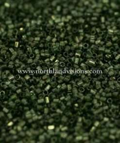 Japanese Seed Bead, 306, Transparent Dark Olive Gold Lined, 15/0 Hex, 14 grams