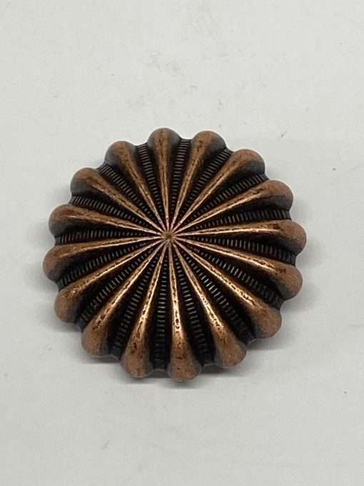 """Antique Copper Pinwheel Concho, 1.25"""" 1 Piece"""