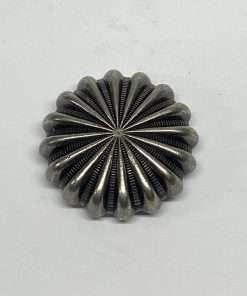 """Antique Nickel Pinwheel Concho, 1.25"""" 1 Piece"""