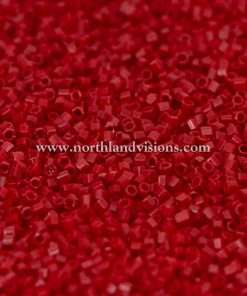 Japanese Seed Bead, 408A, Opaque Dark Red, 15/0 Hex, 14 grams