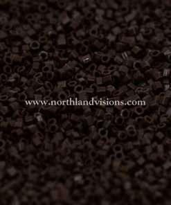 Japanese Seed Bead, 409B, Opaque Chocolate Brown, 15/0 Hex, 14 grams