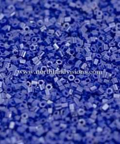 Japanese Seed Bead, 430B, Opaque Royal Blue Luster, 15/0 Hex, 14 grams